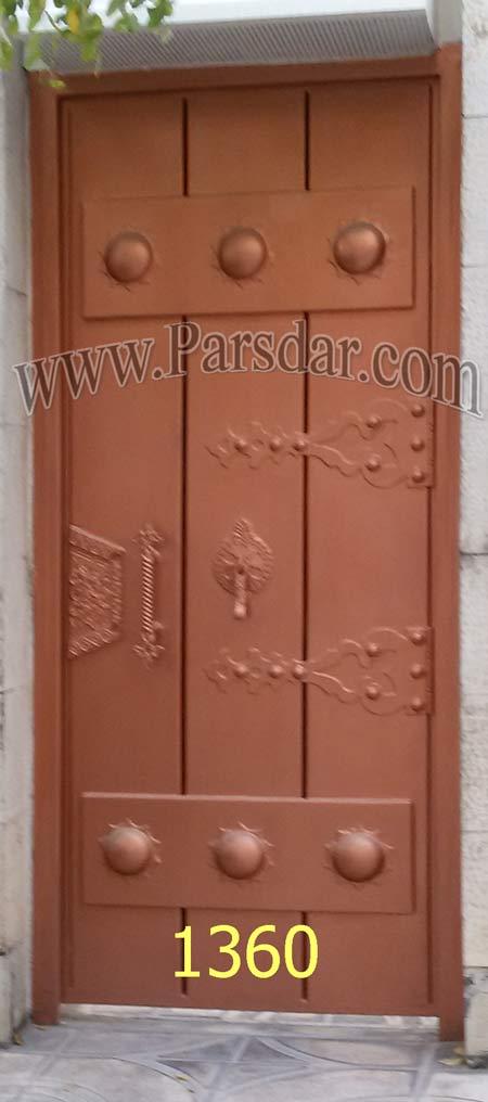 درب های آهنی طرح چوب