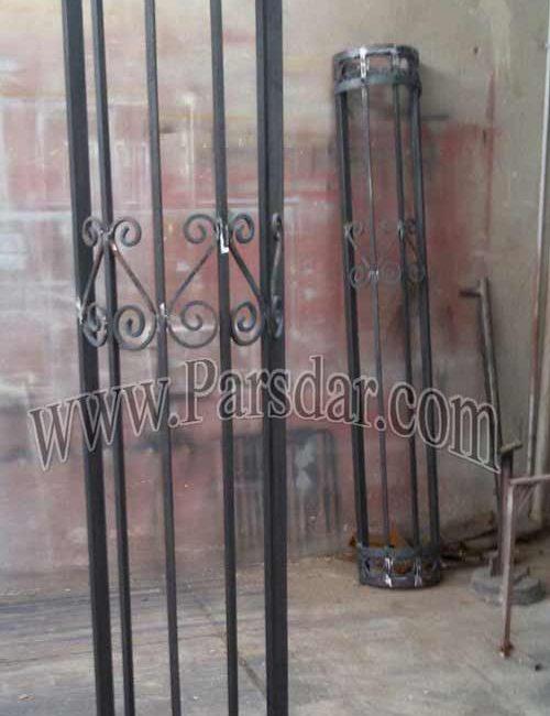 نرده فلزی دیوار محوطه