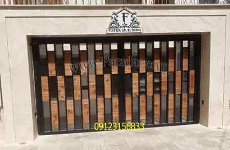درب فلز و چوب